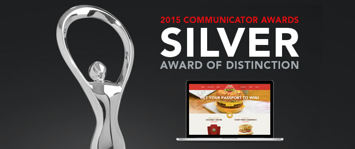 Big Apple Bagels Website Receives Distinguished Award