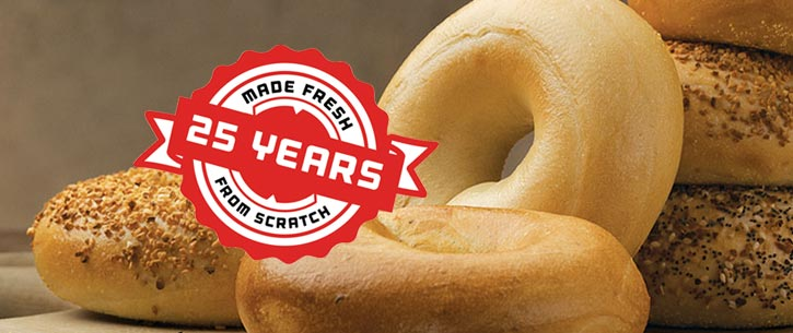 Big Apple Bagels® Celebrates 25th Anniversary
